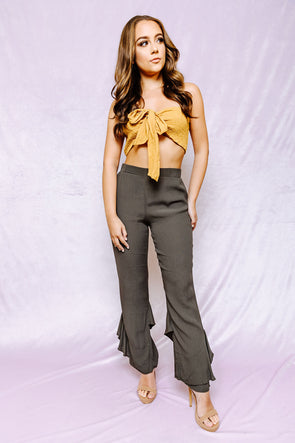 Spice up your life olive green pants