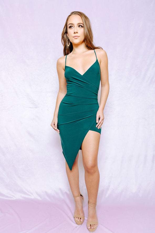 Seen in green dress