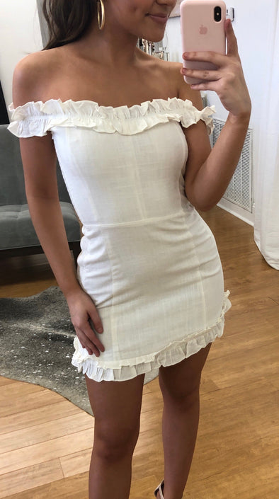 Blushing me dress in white