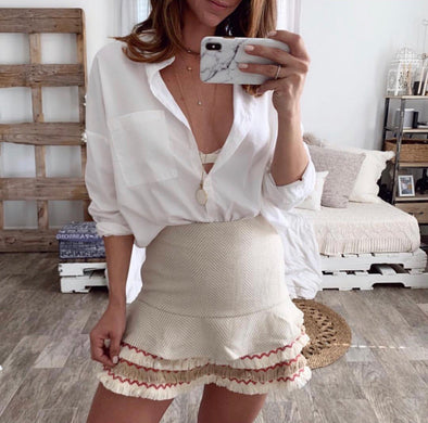 Mesa ruffled skirt