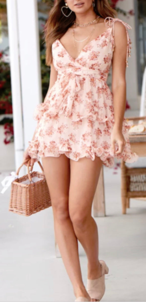 Nude it floral dress
