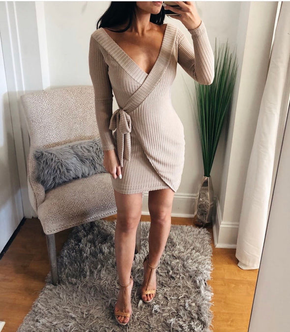 Tan Sweater Dress