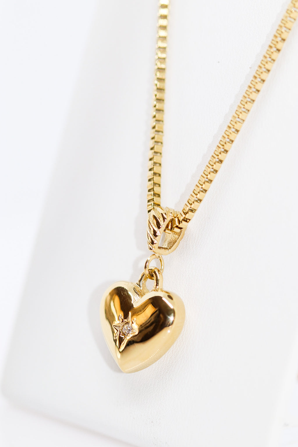 SPARKLE HEART CHAIN - Taimana Boutique