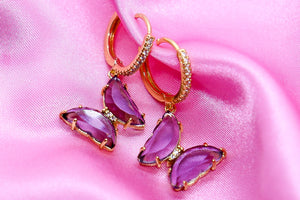 PURPLE CLOUD EARRINGS - Taimana Boutique