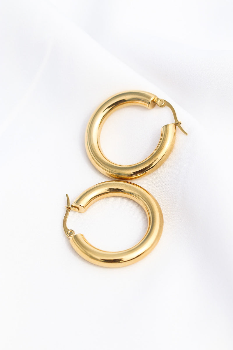 90s SIMPLE THICK HOOP - Taimana Boutique