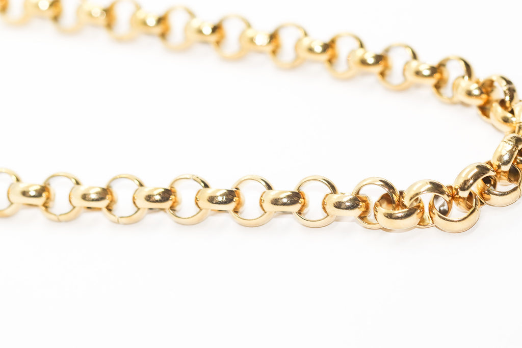 CHUNKY GOLD ROUND LINK CHAIN - Taimana Boutique