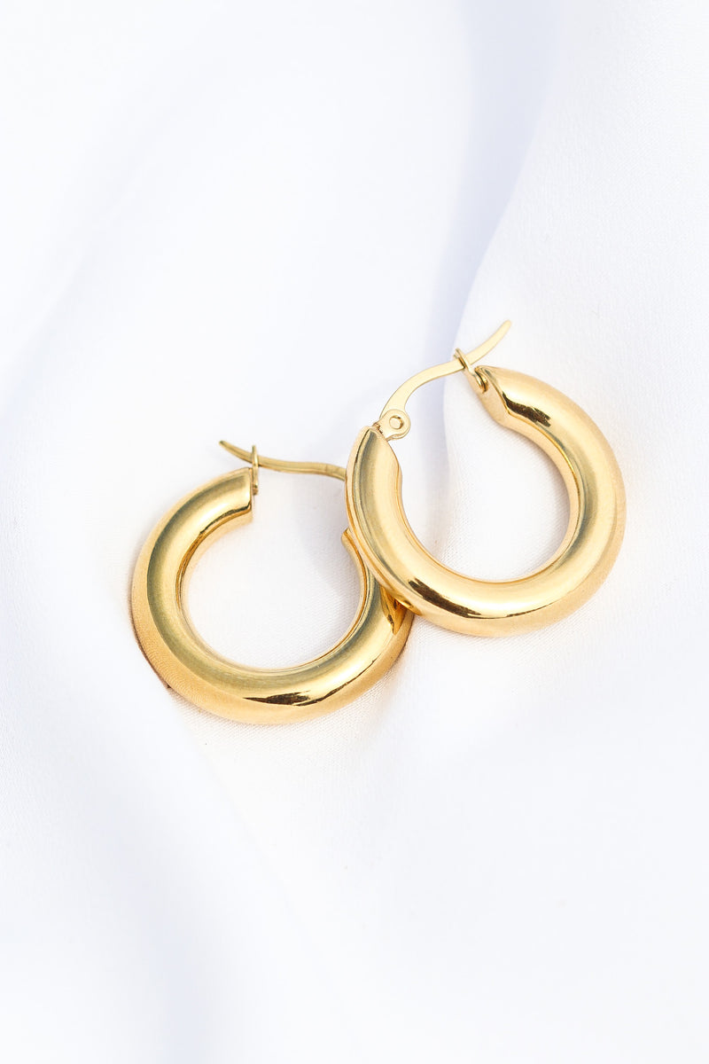 MINI 90s SIMPLE THICK HOOP - Taimana Boutique