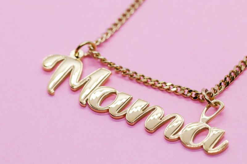 MAMA NAME PLATE CHAIN - Taimana Boutique