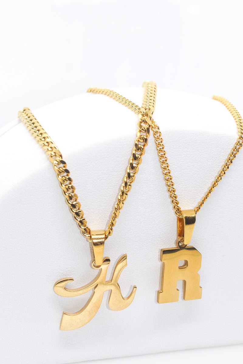 Personalised Single Letter Necklace - Taimana Boutique
