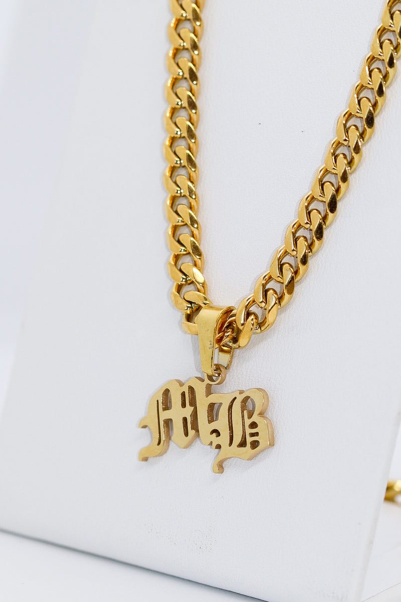 PERSONALISED DOUBLE INITIAL CHAIN - Taimana Boutique