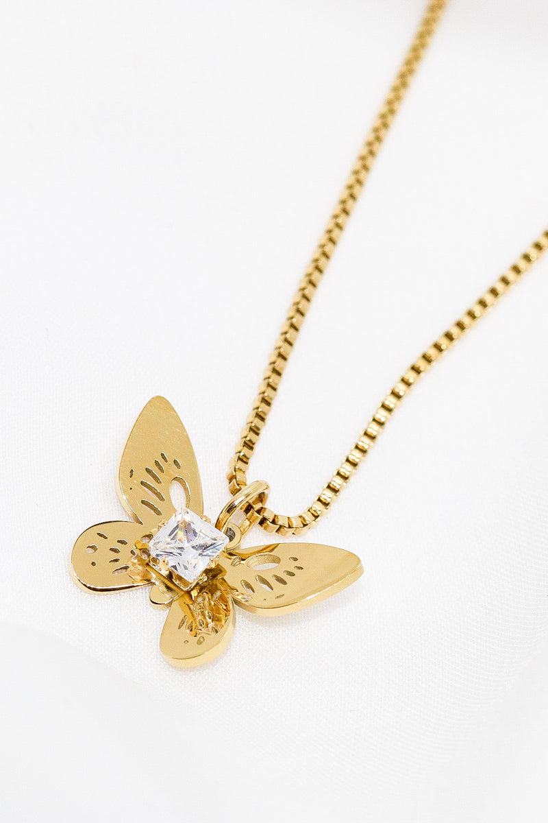 EVELYN BUTTERFLY NECKLACE - Taimana Boutique