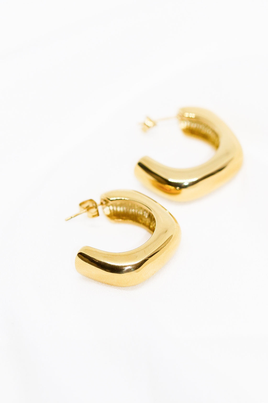 SQUARE LUXE HOOPS - Taimana Boutique
