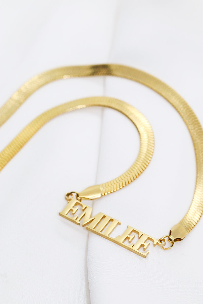PERSONALISED SNAKE CHAIN - Taimana Boutique