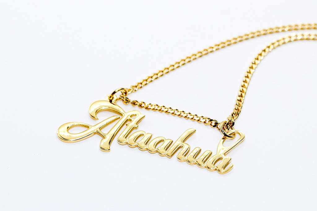 ATAAHUA NAME PLATE NECKLACE - Taimana Boutique