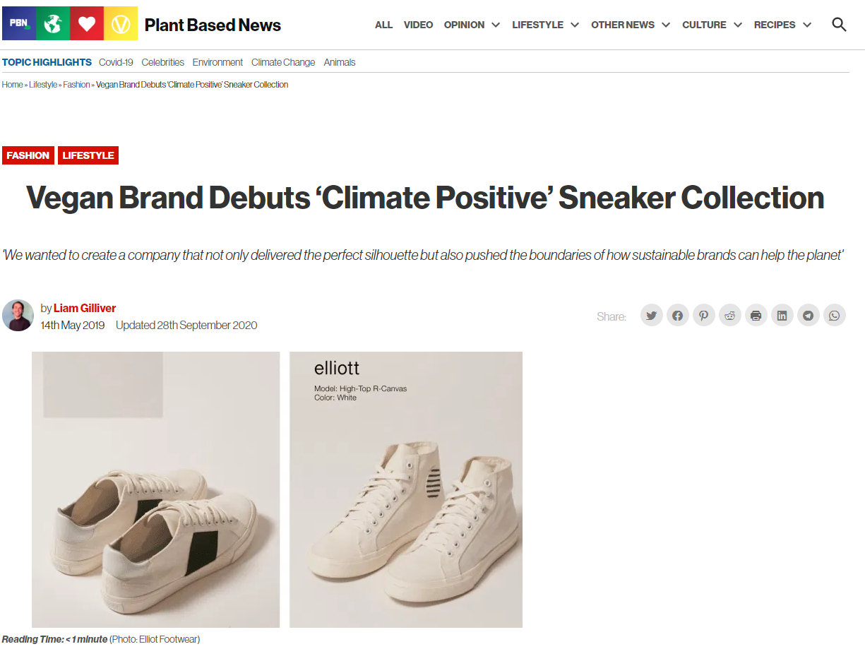 Vegan Brand Debuts 'Climate Positive' Sneaker Collection