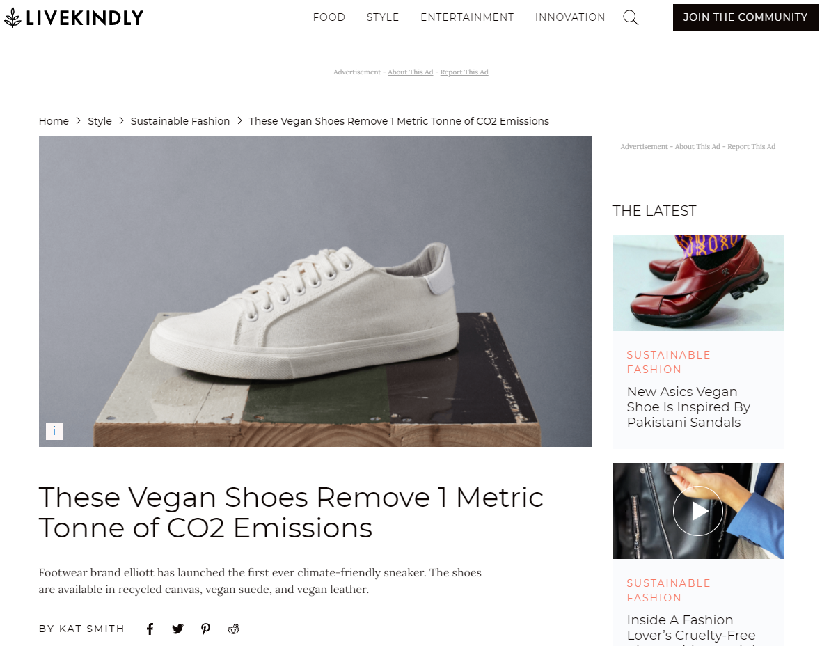 These Vegan Shoes Remove 1 Metric Tonne of CO2 Emissions