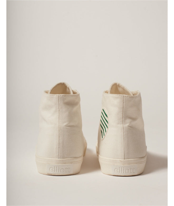 High-Top Recycled Canvas White/Stripes