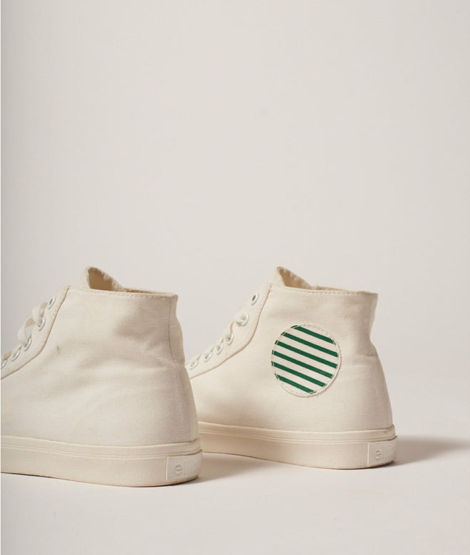 canvas white/stripes shoes