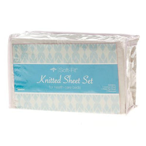 Medline Soft-Fit Knitted Contour Sheet Set (6 SETS) - Express Hospital Beds