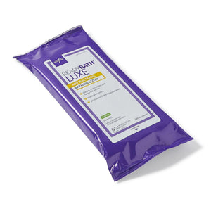 Medline ReadyBath LUXE Total Body Cleansing Heavyweight Washcloths (192 Qty) - Express Hospital Beds
