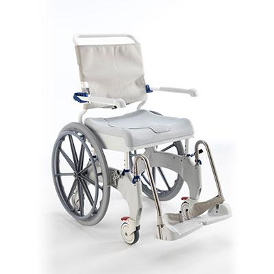 Invacare Aquatec Ocean Ergo Self Propel with Collection Pan, Lid, and Pan Support Guide Rail