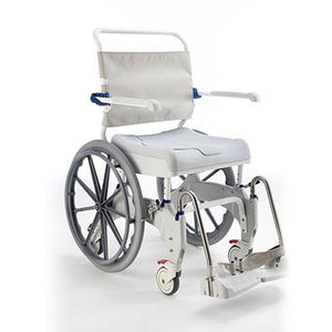 Invacare Aquatec Ocean Ergo XL Self Propel with Collection Pan, Lid, and Pan Support Guide Rail