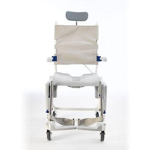 Invacare Aquatec Ocean Ergo VIP with Collection Pan, Lid, and Pan Support Guide Rail