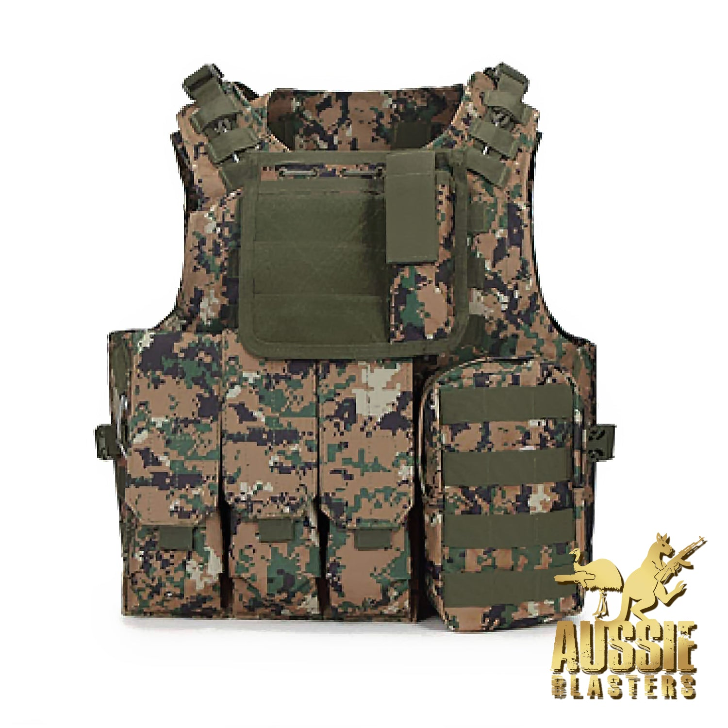 TACTICAL VESTS - DIGITAL CAMO