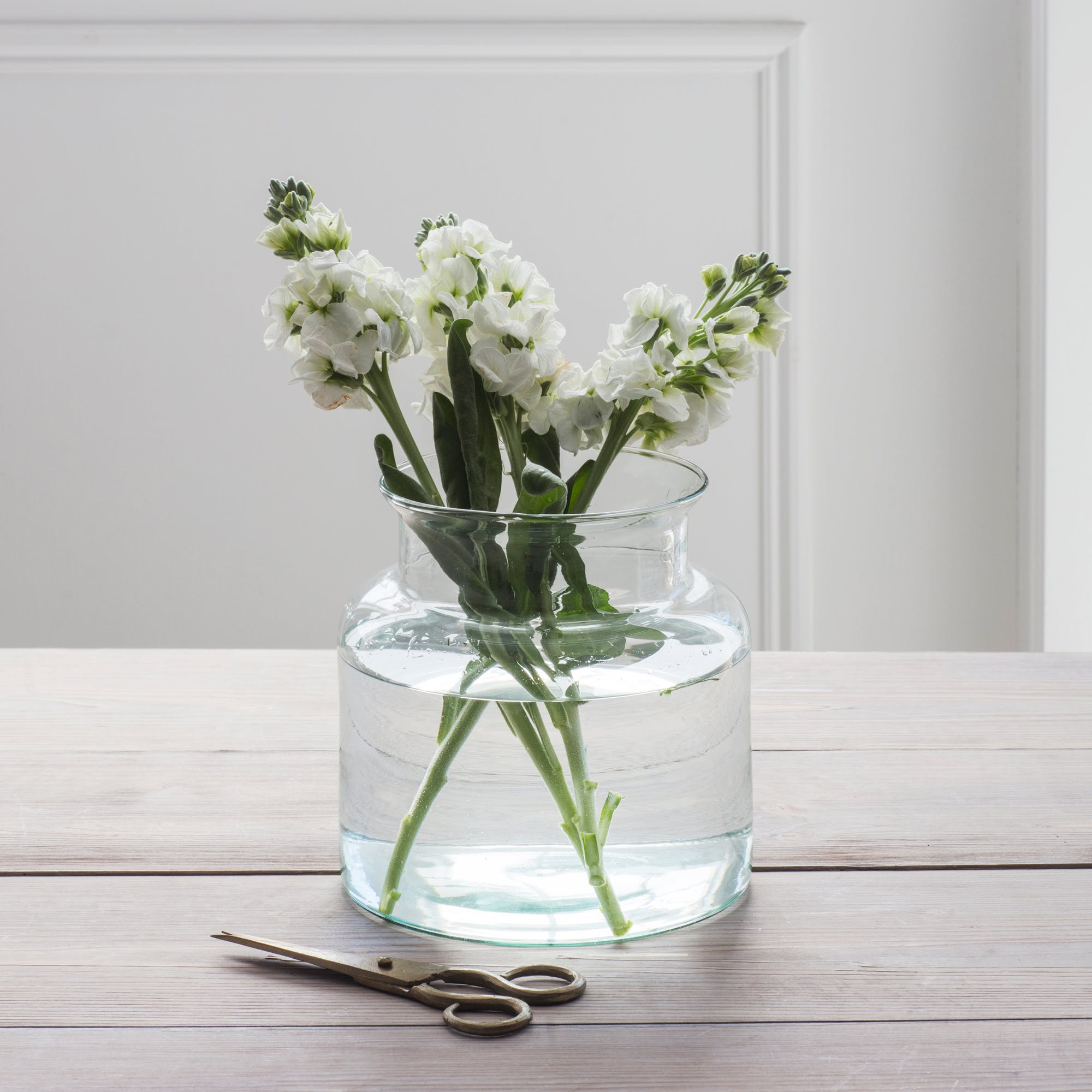 Glass Broad Vases, 100% Recycled