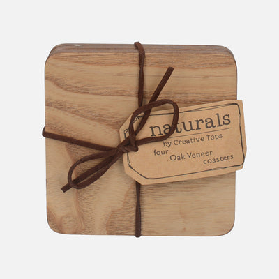 Oak Veneer Coasters / Placemats
