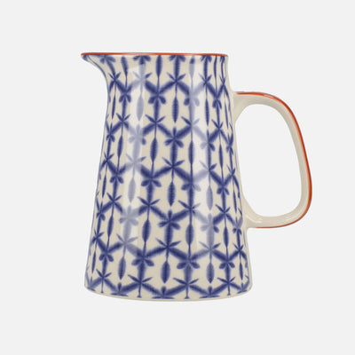 Blue Geometric Pattern Jug