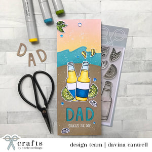 """Squeeze The Day!"" - A Masculine Card for Dad"