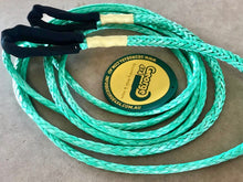 Load image into Gallery viewer, Tow rope 6mm Green, Breaking force 3300kg, length start from 1meter to 200meters ,Soft Loop At both ends,Australia made