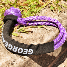 Load image into Gallery viewer, Button Knot Soft Shackle 11mm 15000kg Purple, Australia Made 4WD Light recovery Gear