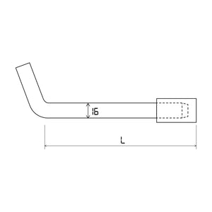 1516LL-Hitch Pin Lockable L (bend) for trailer and caravan tow bar pin