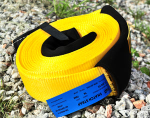 437509Y-Snatch Strap 11000KG-9M Yellow George4x4 Recovery Gear, 20% stretching