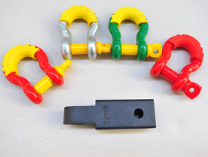 Alloy Tow Bar Hitch Shackle Receiver 5000kg 160mm+ Shackle, Recovery Hitch Design by George4x4