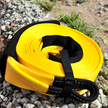 Load image into Gallery viewer, 437509Y-Snatch Strap 11000KG-9M Yellow George4x4 Recovery Gear, 20% stretching