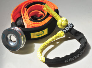 Winch Accessory kit: Snatch Ring+Tree Trunk Protector +Soft Shackle, George 4x4 4WD recovery OFF ROAD