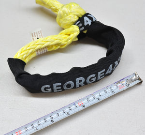 Soft Shackle with Black Eye 10mm*45cm 13300kg , Made in Australia by George Lifting 4x4 Offroad Climbing