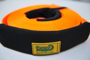 436009O-Snatch Strap 8000KG-9M ORANGE, 20% stretching George 4x4 4WD Recovery Gear