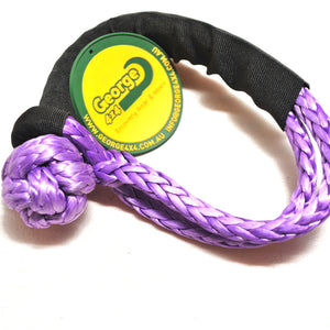 Button Knot Soft Shackle 11mm 15000kg Purple, Australia Made 4WD Light recovery Gear