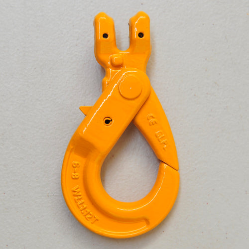 Clevis Self Locking Safety Hook 6mm WLL 1.12ton, Grade 80 Chain Lifting Sling Components