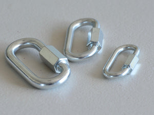 Zinc Plated Quick Link 5mm,6mm,8mm, 10mm Camping Climbing Lock rigging accessories , balustrade shade sail