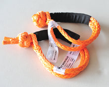 Load image into Gallery viewer, Soft Shackle Kit: Diamond Knot +Button knot kit, 11mm Orange 65cm length