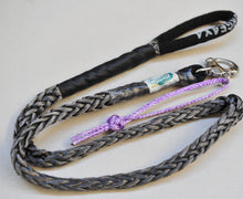 Load image into Gallery viewer, Dog Leash 12mm Silver / Grey with Quick release hook+soft Shackle, made in Australia, Strongest Leads