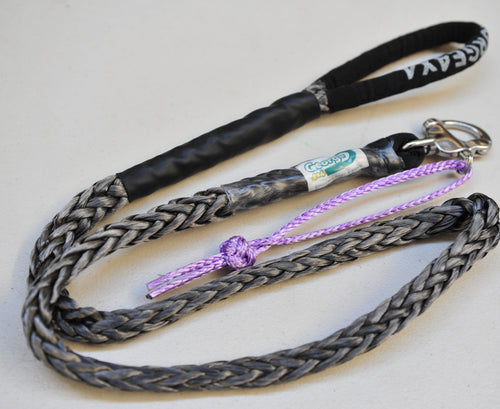 Dog Leash 12mm Silver / Grey with Quick release hook+soft Shackle, made in Australia, Strongest Leads