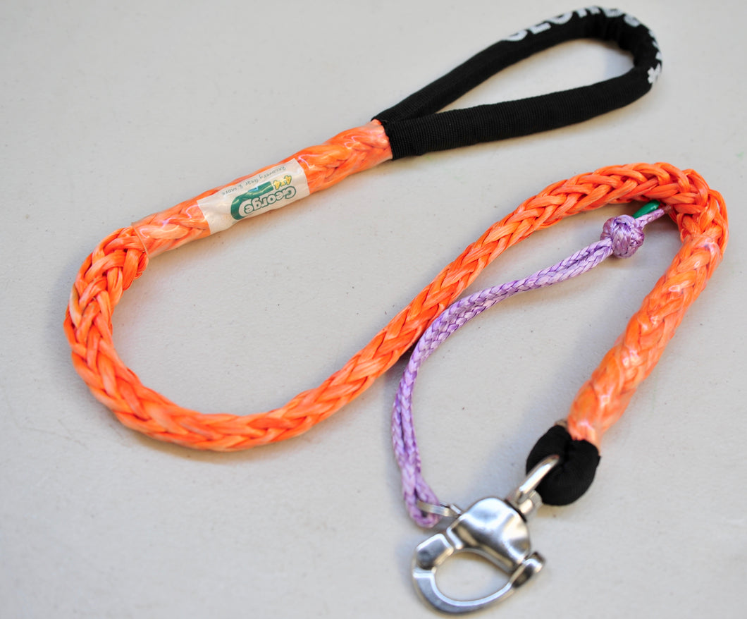 Dog Leash 11mm Orange with Quick release hook+soft Shackle, made in Australia, Strongest Leads