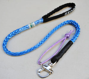 Dog Leash 9mm Blue with Quick release hook+soft Shackle, made in Australia, Strongest Leads
