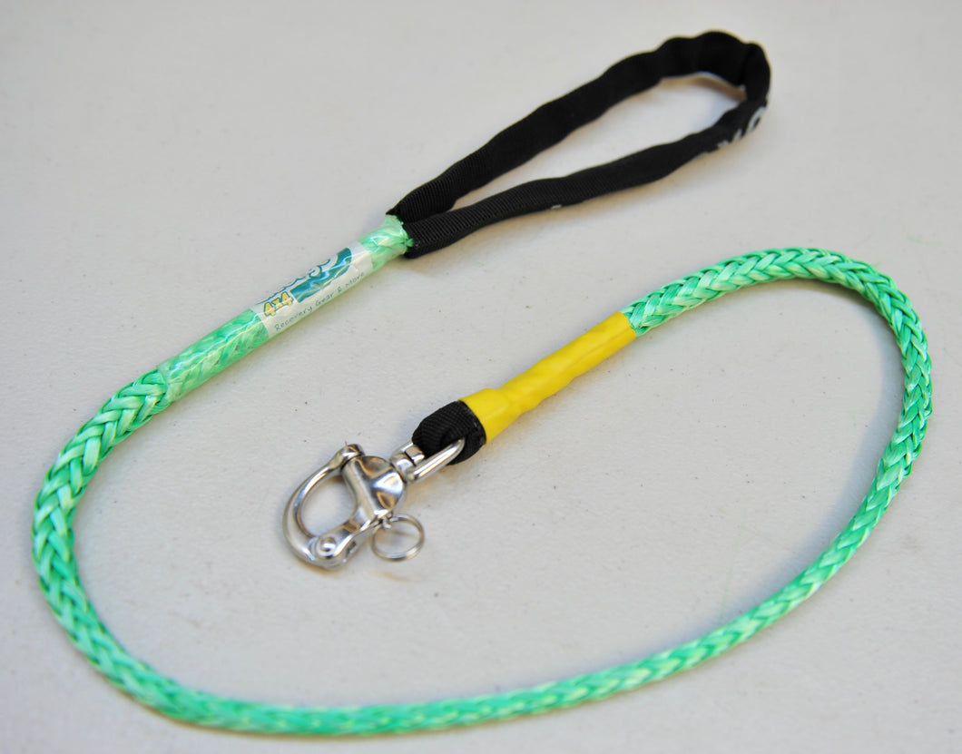Dog Leash 6mm Green with Quick release hook, made in Australia, Strongest Leads
